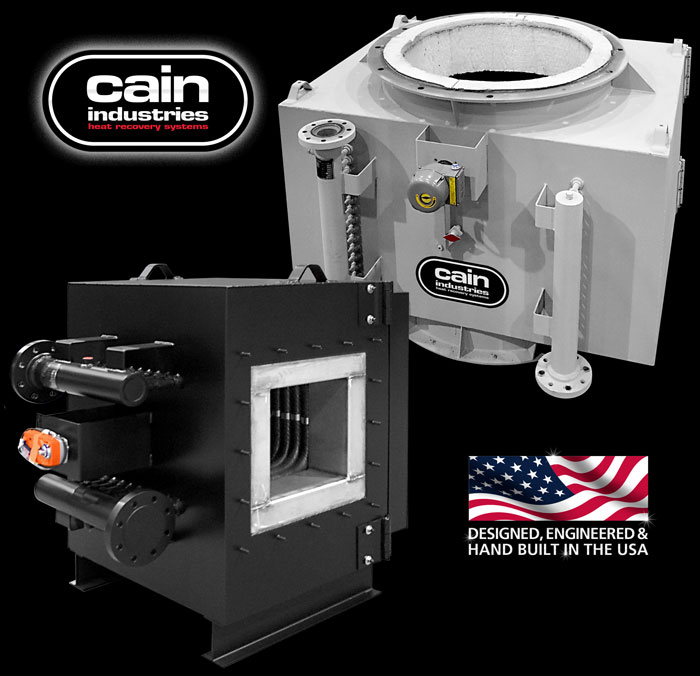Cain Industries ITR (Incinerator Tube Recovery) Fume Incineration
